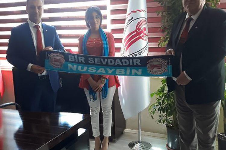 Nova Medya Grup'un Mardin Nusaybin Esnaf ve Sanatkarlar Odası Başkanı Ömer ÖZEL'i Ziyareti